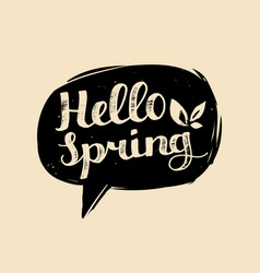 Hand lettering typography poster hello vector
