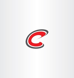 Letter c red sign symbol icon logotype vector
