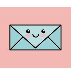 Letter kawai icon design vector