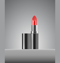 lipstick cosmetics makeup realistic 3d mock-up of vector image vector image