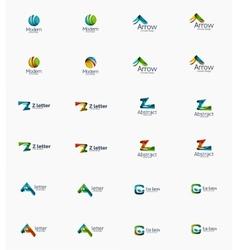 Modern company logo set vector image