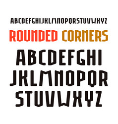 Narrow sanserif font in sport style with rounded vector