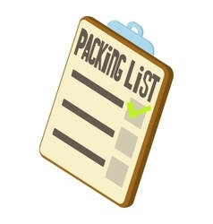 Packing list icon isometric 3d style vector