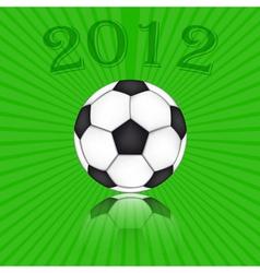 soccer ball euro 2012 vector image