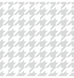 Tile houndstooth pattern with white and grey plaid vector image