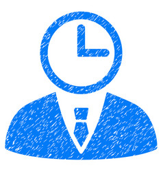 time manager grunge icon vector image vector image