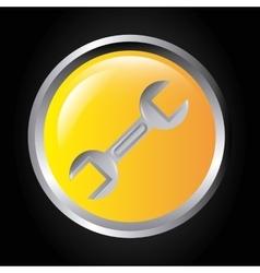 Wrench icon work in progress design vector