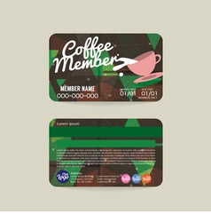 Coffee voucher of member card template vector