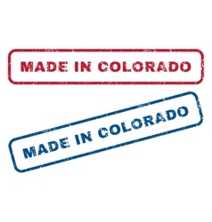 Made in colorado rubber stamps vector