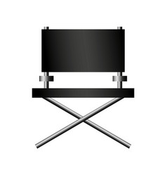 Director chair cinema icon vector
