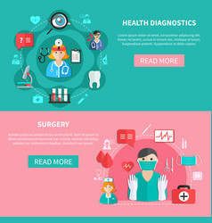 medicine horizontal flat banners vector image
