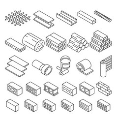 Building construction materials for repair vector