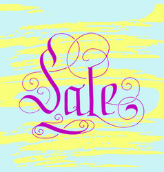 hand lettering sale on grunge brush background vector image