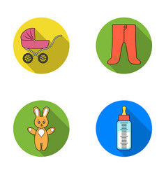 Stroller bottle with a pacifier toy sliders vector