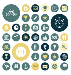 Flat design icons for travel sport and leisure vector
