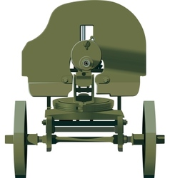 Maxim machine gun vector