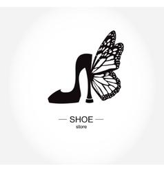 Logo shoe store shop fashion collection boutique vector