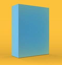 Realistic blank blue packaging box template for vector
