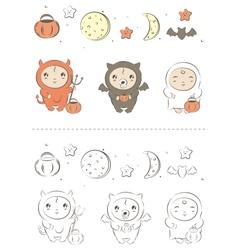 Baby halloween vector