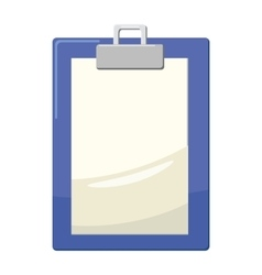Clipboard with blank paper icon cartoon style vector