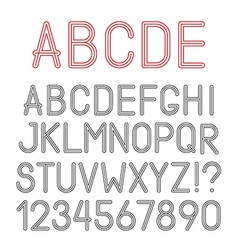 Airy alphabet letters numbers and punctuation vector
