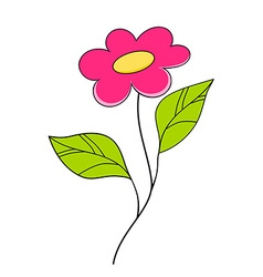 Beautiful pink flower floral design element vector