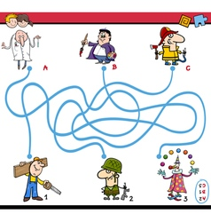 Maze task activity for children vector