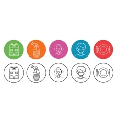 Home and hygiene icons vector