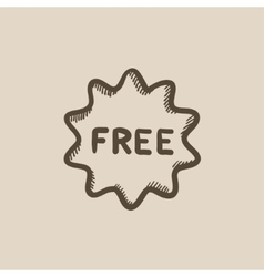 Free tag sketch icon vector