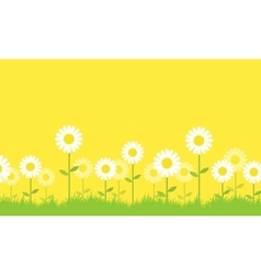 Background of flower spring collection vector