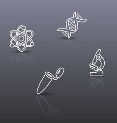 Biology science background vector image vector image