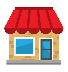 Business storefront vector