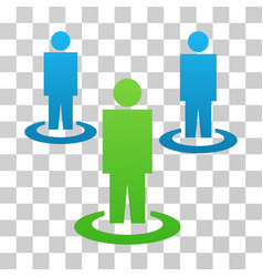 Community gradient icon vector