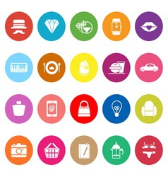 Department store item category flat icons on white vector