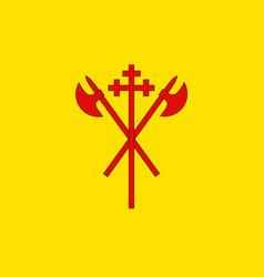 Flag of sor-trondelag is a county of trondelag reg vector