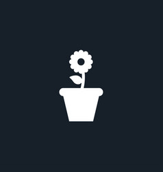 flower icon simple vector image