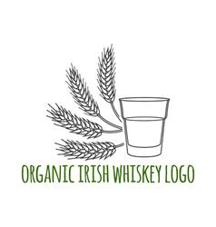 Irish whiskey vector