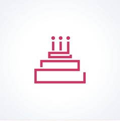 Logo cake with candle vector