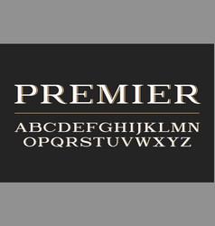 Modern serif typeface design font vector