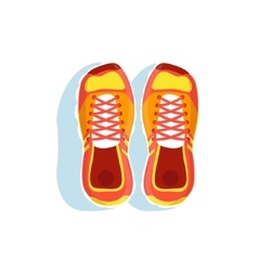 Pair Of Orange Running Shoes vector image