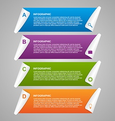 Paper infographics design template vector image