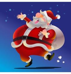 Santa Claus happy vector image