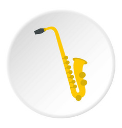 Saxophone icon circle vector