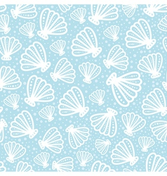 Shell seamless pattern on spotted background vector