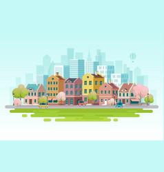 Spring cityscape vector