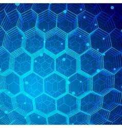 Tech hexagon background vector