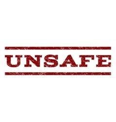 Unsafe watermark stamp vector