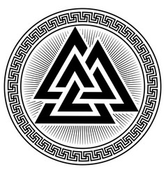 Valknut ancient pagan nordic germanic symbol vector