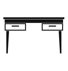 Wooden table icon simple vector
