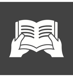 Holding book vector